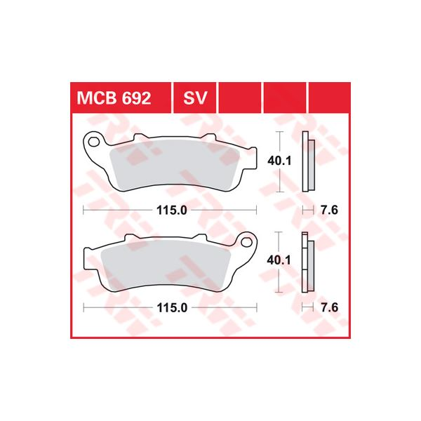 TRW SV/SH Remblokken MCB692SV