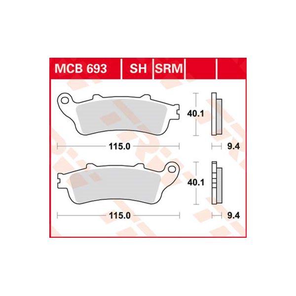 TRW Standaard remblokken MCB693
