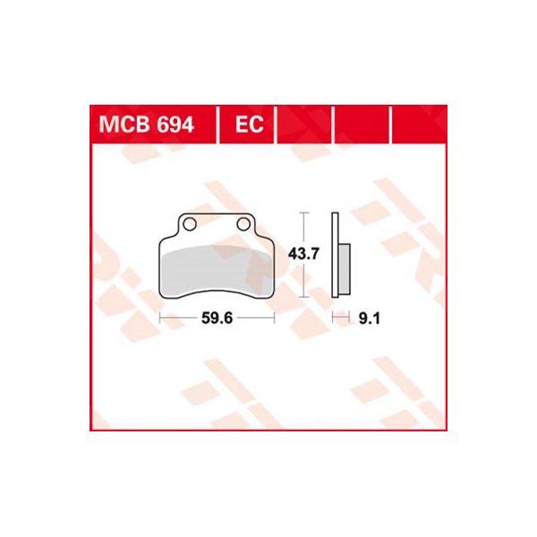 TRW Standaard remblokken MCB694