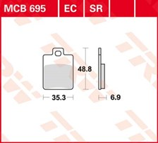 TRW Plaquettes de frein organique MCB695