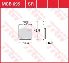 TRW Plaquettes de frein métal fritté MCB695SR