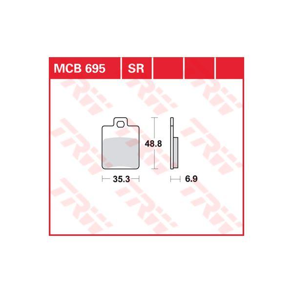 TRW Sinter metaal remblokken MCB695SR