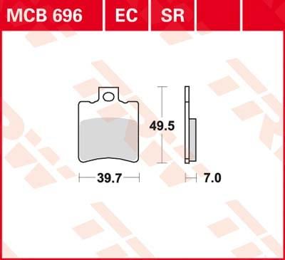 TRW Standaard remblokken MCB696
