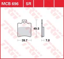 TRW Plaquettes de frein métal fritté MCB696SR
