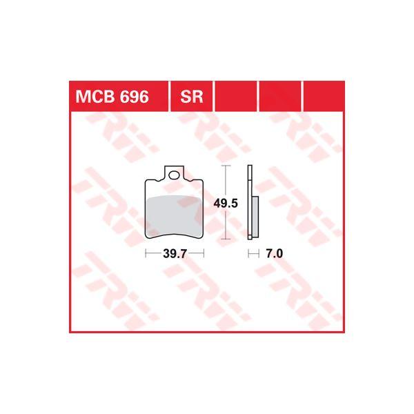 TRW Sinter metaal remblokken MCB696SR