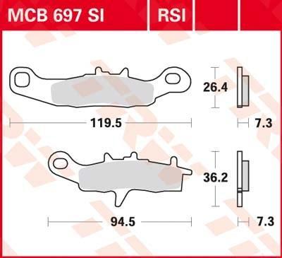 TRW RSI remblokken MCB697RSI