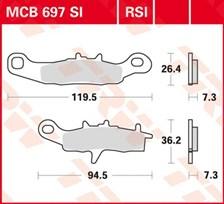 TRW Plaquettes de frein métal fritté SI MCB697SI