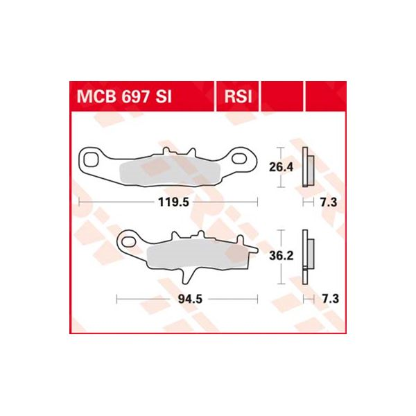 TRW SI Remblokken sinter metaal MCB697SI