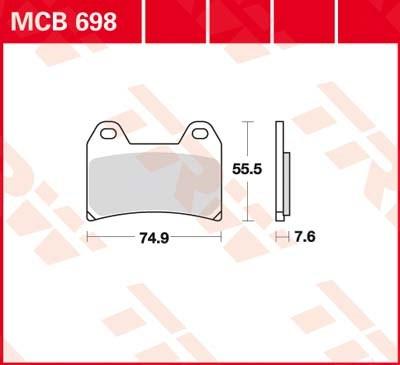TRW Standaard remblokken MCB698