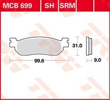 TRW Plaquettes de frein organique MCB699