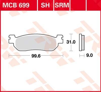 TRW Standaard remblokken MCB699