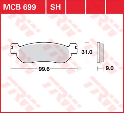 TRW SV/SH Remblokken MCB699SH