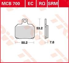 TRW Plaquettes de frein organique MCB700