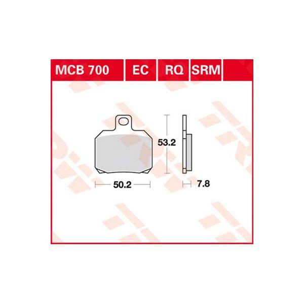 TRW Standaard remblokken MCB700