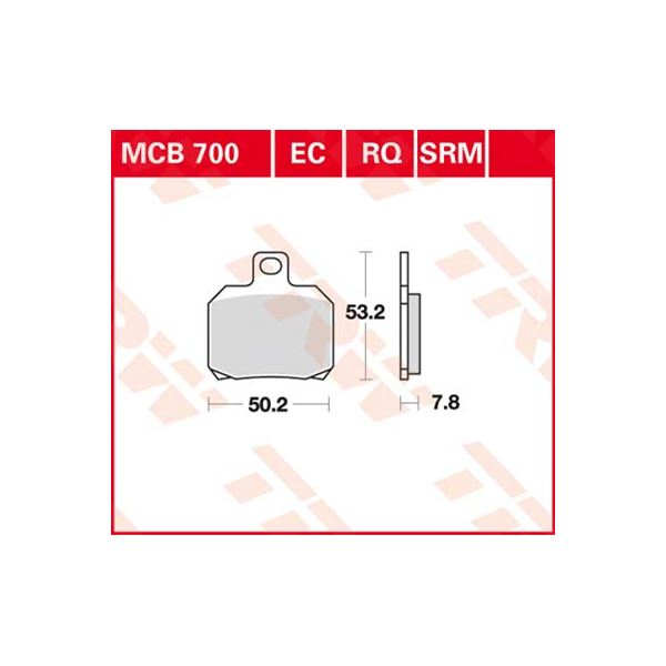 TRW racing quality remblokken MCB700RQ