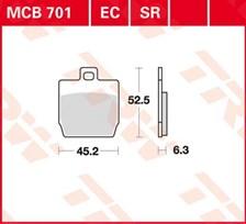 TRW Plaquettes de frein organique MCB701
