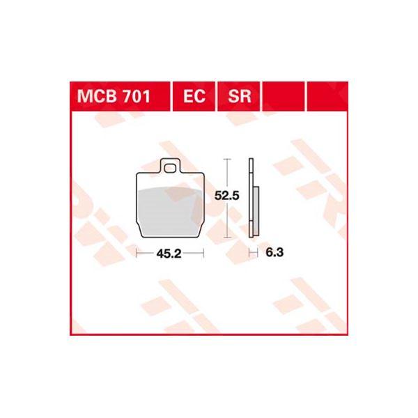 TRW Standaard remblokken MCB701