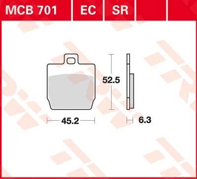 TRW Sinter metaal remblokken MCB701SR