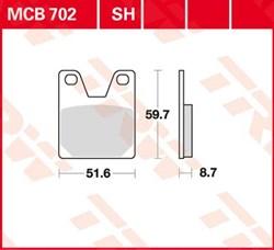 TRW remblokken sinter metaal