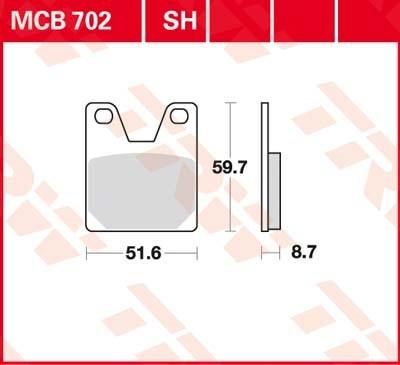TRW SV/SH Remblokken MCB702SH