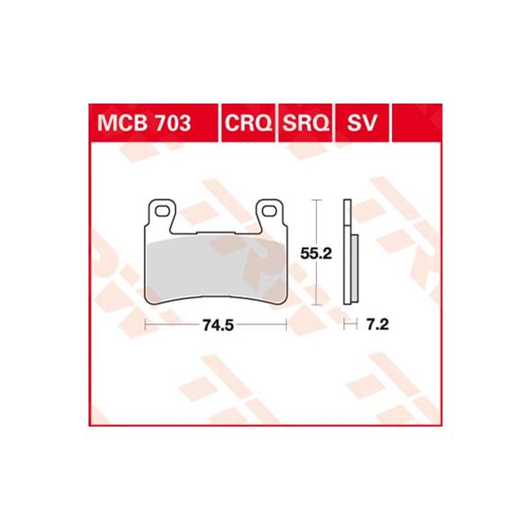 TRW Standaard remblokken MCB703