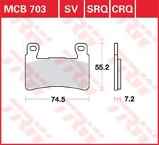 TRW Plaquettes de frein CRQ MCB703CRQ