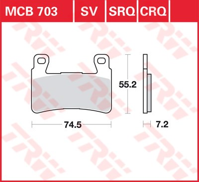 TRW CRQ remblokken MCB703CRQ