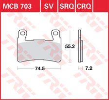 TRW Plaquettes de frein SRQ  MCB703SRQ
