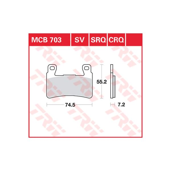 TRW SRQ remblokken MCB703SRQ