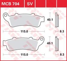 TRW Plaquettes de frein SV/SH MCB704SV