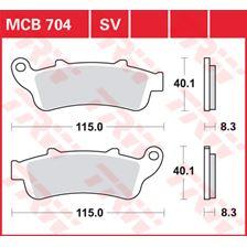 TRW SV/SH Remblokken MCB704SV