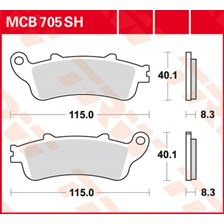 TRW Plaquettes de frein SV/SH MCB705SH