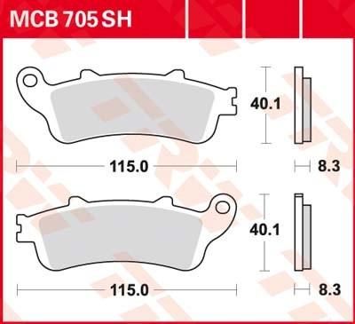 TRW SV/SH Remblokken MCB705SH