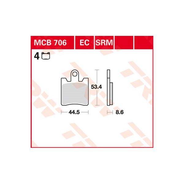TRW Standaard remblokken MCB706