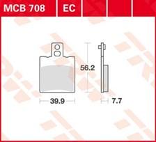 TRW Plaquettes de frein organique MCB708