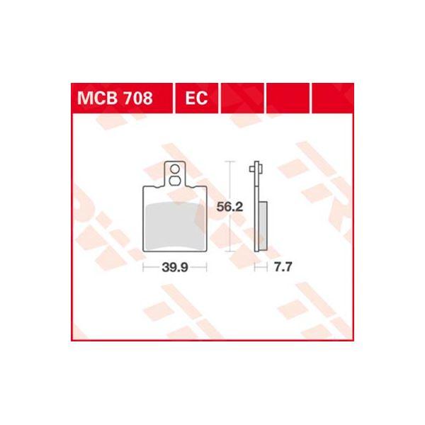 TRW Standaard remblokken MCB708