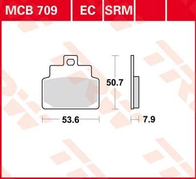 TRW Standaard remblokken MCB709