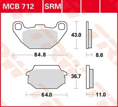 TRW Standaard remblokken MCB712