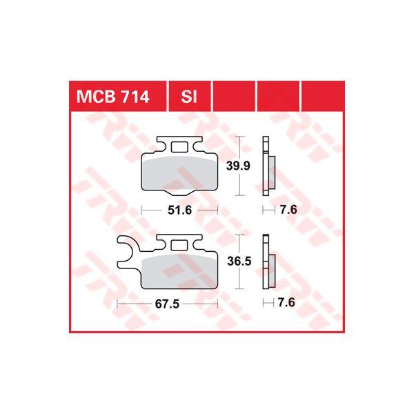 TRW SI Remblokken sinter metaal MCB714SI
