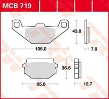 TRW Plaquettes de frein organique MCB719