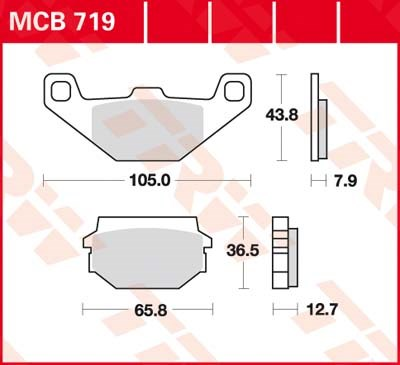 TRW Standaard remblokken MCB719
