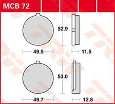 TRW Plaquettes de frein organique MCB72