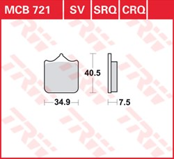 TRW plaquettes de frein qualité racing