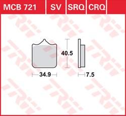 TRW Plaquettes de frein CRQ