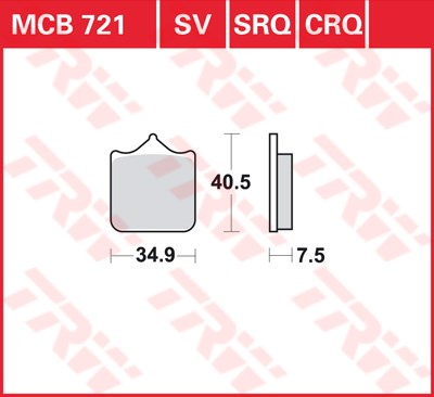 TRW CRQ remblokken MCB721CRQ