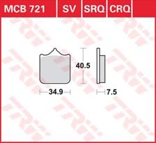 TRW Plaquettes de frein SRQ  MCB721SRQ
