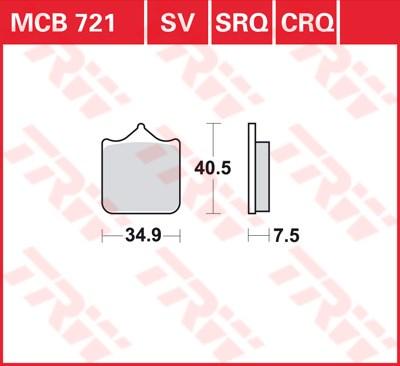 TRW SRQ remblokken MCB721SRQ