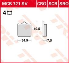 TRW Plaquettes de frein SV/SH MCB721SV