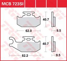 TRW Plaquettes de frein métal fritté SI MCB723SI