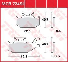 TRW Plaquettes de frein métal fritté SI MCB724SI